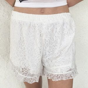 White Abercrombie shorts